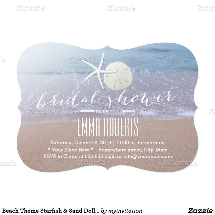 Beach Theme Starfish u0026 Sand Dollar Bridal