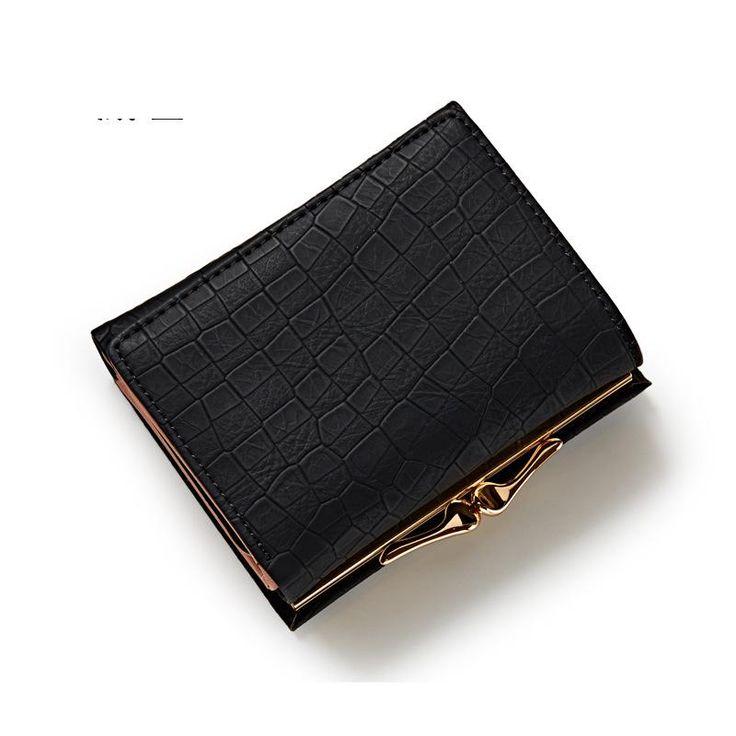 Small lock women wallet short female purse brand coin wallet mini Carteira Feminina fashion lady wallet card holders