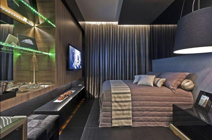 Decor Salteado - Blog de Decoração e Arquitetura : Decoração de quartos masculino solteiro – veja 40 modelos lindos + dicas!