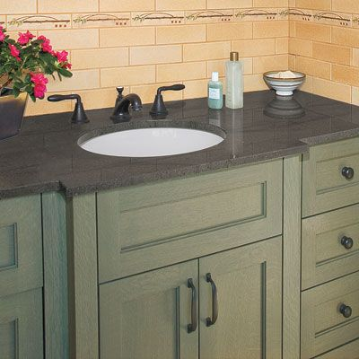 """Maggie wants a single sink vanity with lots of storage. The floor plan allows a 60"""" vanity."""