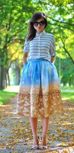 Chicwish Bling Bling Pleated Midi Skirt