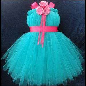 girls Tutu teal dress... for my friends little girl