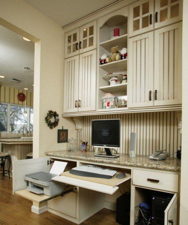 ausziehbare regale in den schr nken f r drucker und. Black Bedroom Furniture Sets. Home Design Ideas