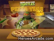 Play Teenage Mutant Ninja Turtles Pizza Time game online.