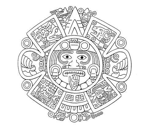 Aztec Stone Mayan Calendar