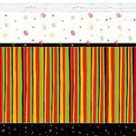 Unique Happy Fiesta Stripes Plastic Tablecover 137 x 213 cms
