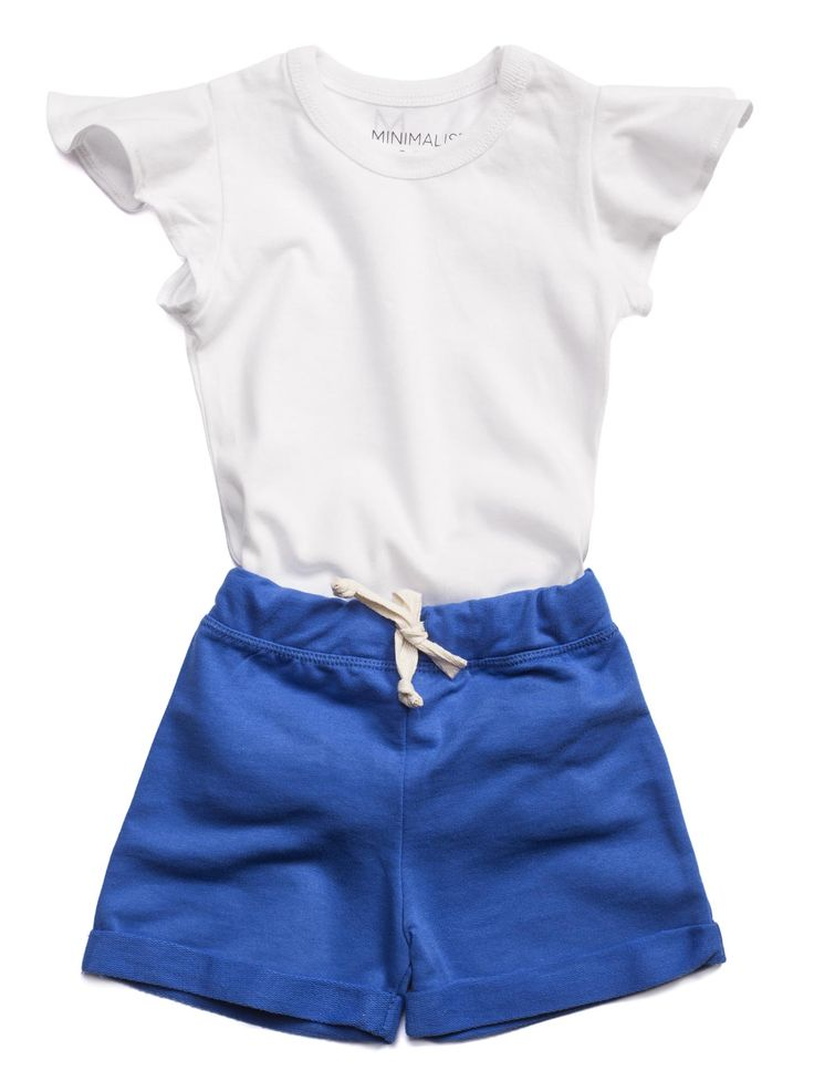 MINIMALIST - SUMMER #White&Blue #Girly Leotard
