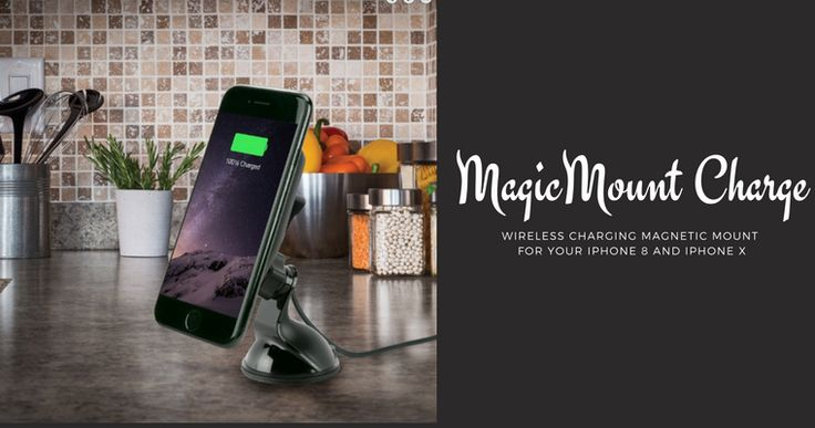 If you prefer charging mounts to charging pads, check out the latest launch by Scosche - MagicMount Charge - a magnetic mount for your iPhone 8/ 8 Plus & X.