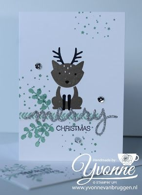 Yvonne is Stampin' & Scrapping: Stampin' Up! Foxy Friends Christmas Card #stampinup