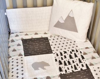 Best 20 rustic bedding sets ideas on pinterest for Mountain crib bedding