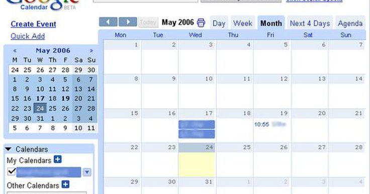 Cómo crear citas en el calendario de Gmail mediante mensajes de texto. El calendario de Gmail de Google le ofrece a la gente ocupada la oportunidad de organizar su vida desde su teléfono móvil. Ya sea que necesites apuntar la cita con el médico de tu hijo, el gran examen de mañana o programar una reunión de negocios, puedes hacerlo ahora sobre la marcha. Todas las citas se pueden programar en tu calendario de Google ...