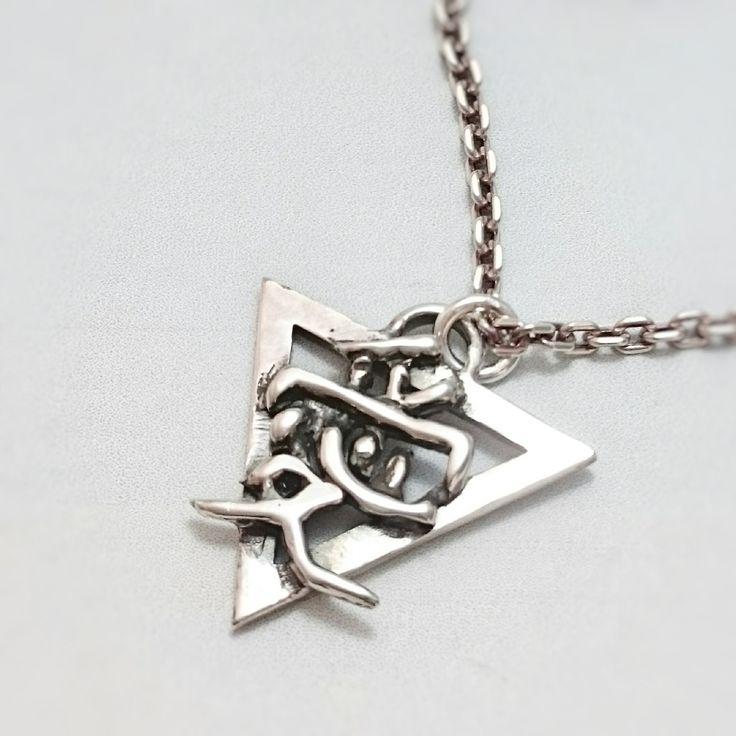 Etsy のtriangle japanese 【kanji  AI=love】pendant top **one of kind**(ショップ名:urchinjp)