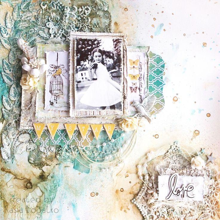 Влюбленный, открытка с акварельным фоном скрапбукинг
