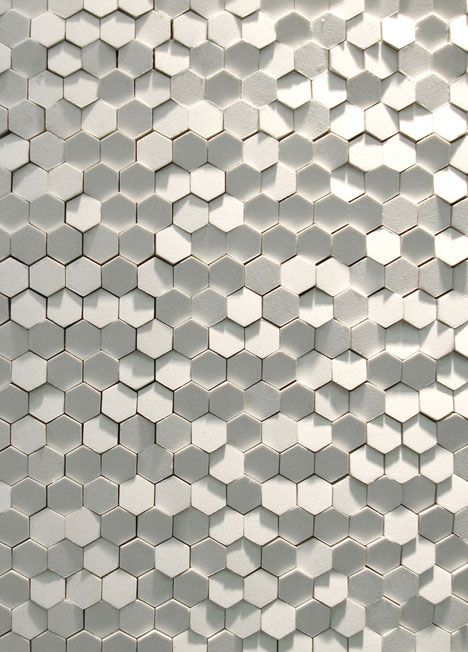 Artistic Tile dimensional hexagons-- how fun!