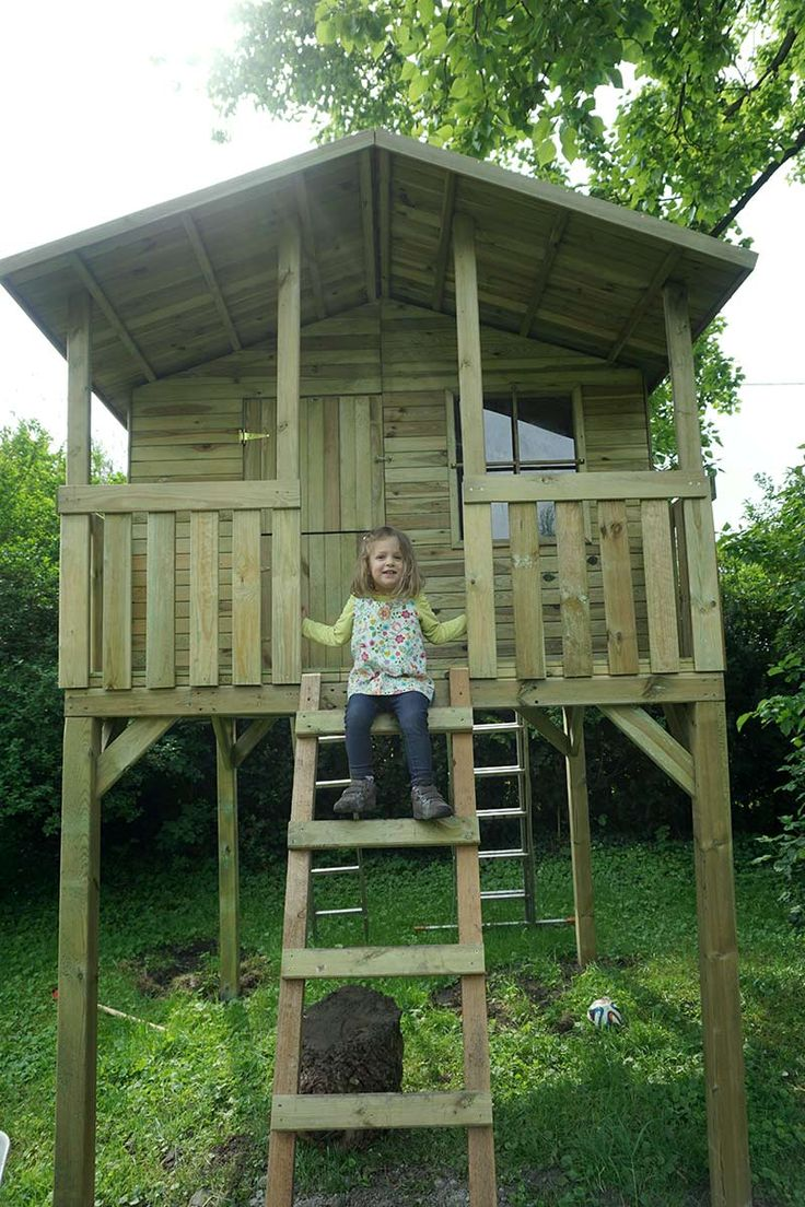 12 best spielhaus stelzenhaus images on pinterest wood badger and playhouse for kids. Black Bedroom Furniture Sets. Home Design Ideas