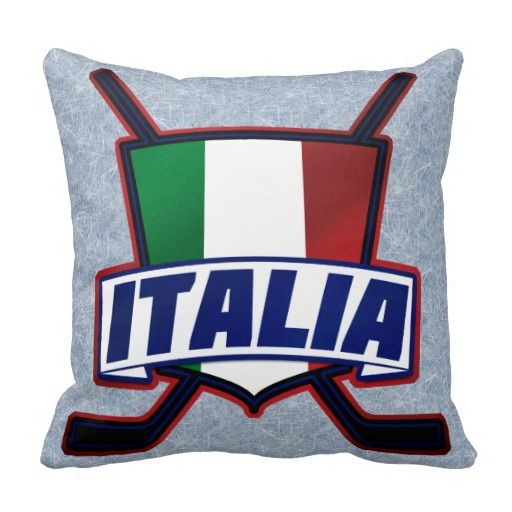 Italy Hockey su Ghiaccio Throw Pillows. To see this design on a range of other products, please visit my store: www.zazzle.com/gamefacegear*/  #icehockey #zazzle #italy
