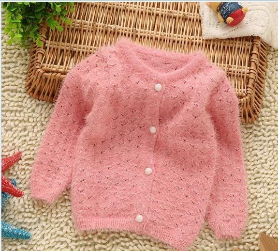 Свитера девочка свитер джемпер розовый бежевый с длинным рукавом вязаный свитер дети девушки свитер детей 4 шт./лот