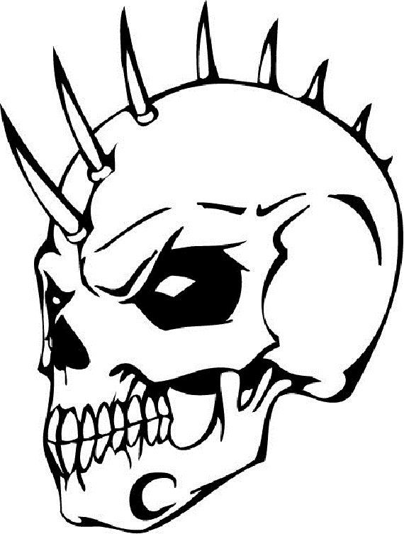 Mohawk Skull Heads Coloring Pages Coloring Pages