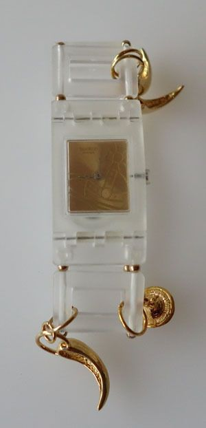 HIDEOUS Swatch Watch Square Cocotte By Vivienne Westwood  SUBK101P.  New!