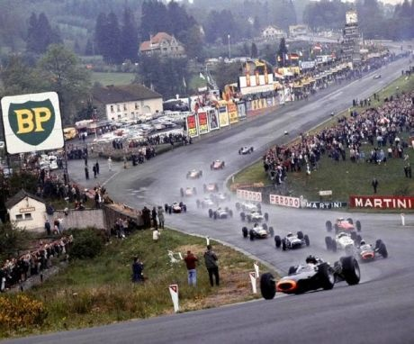 1965 Belgian Grand Prix, back when Eau rouge was awesome.