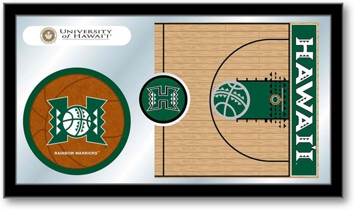 Hawaii Warriors Basketball Team Sports Mirror at SportsFansPlus.com. Visit website for details!!