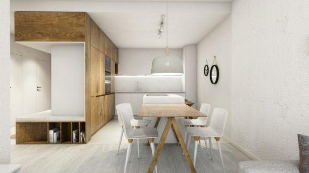 Návrh predsiene - interiér Slnečnice, Bratislava - dark wood alternative, Interiérový dizajn / Hall interior by Archilab