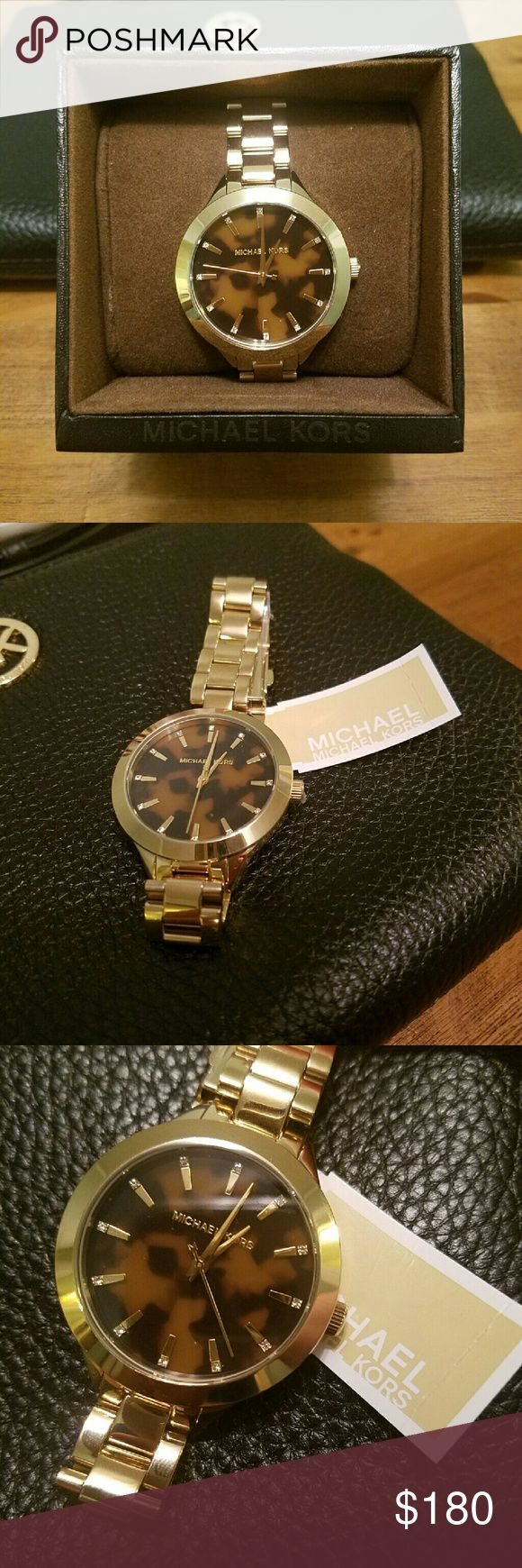 Michael Kors Tortoise Shell Watch This is a Michael Kors women's watch featuring a Tortoise shell face. It is NWT. I have the box as well. Michael Kors Accessories Watches   Supernatural Style
