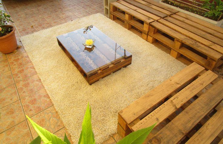 Mesa pallet cuarzo