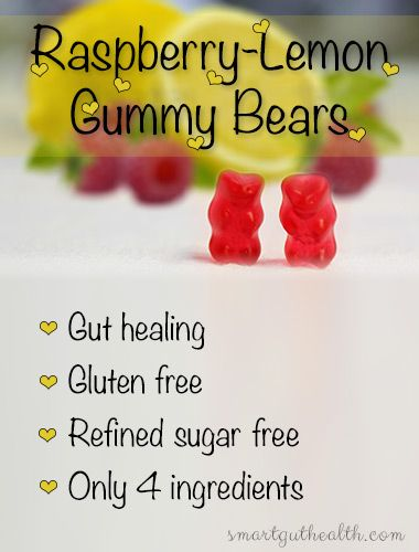 Delicious gut healing gummy bears. Only 4 ingredients, gluten and sugar free.