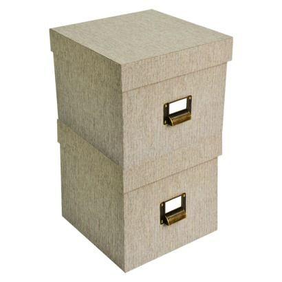 Target Threshold Hard Sided Hinged Lid Box Set Of 2 Closet Officestorage
