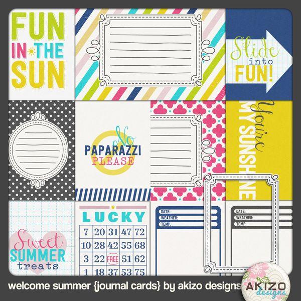 """sur notre board """"freebies : kits"""", vous trouverez les liens vers des papiers et embellissements assortis !"""