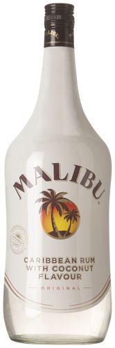 Malibu Coconut 28,99  's Werelds bekendste en meest verkochte likeur met kokosnoot. De unieke smaak van deze likeur is te danken aan de verfijnde melange van rum, natuurlijke kokosaroma's en pure rietsuikers van de hoogste kwaliteit. Door het alcoholpercentage van 21% is Malibu zeer geschikt om puur te drinken. Ook lekker in de mix met cola, jus d'orange, cassis of cranberrysap. Extra veel mixen met deze 1.5 literfles dus.