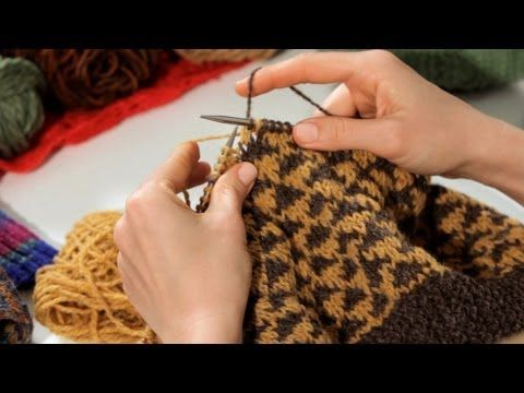 How to Knit with Two Colors | Knitting - YouTube