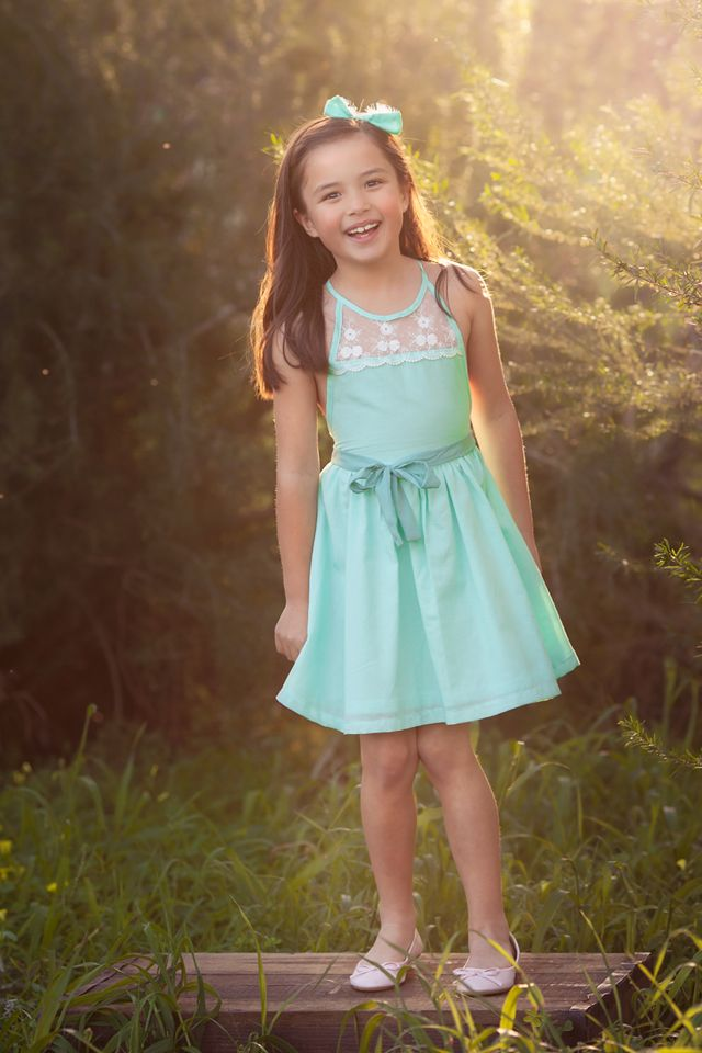 The Audrey #dress in #mint featuring #lace and chiffon #bow belt. #girls #kids #toddler #childrens #style #fashion #designs #couture