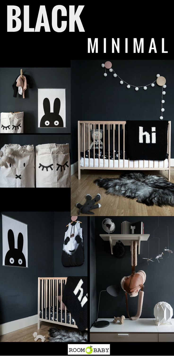 roomobaby blog: shop the room:black+minimal