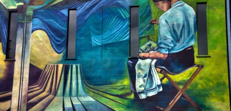 One of Vernon's 27 murals. The murals depict the history, culture, scenery, and folklore that made Vernon what it is today.  | Vernon BC