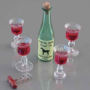 Reutter Porcelain Dollhouse Victorian Wine Glass Set