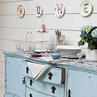 love: Blue Cabinets, Baby Blue, Shabby Chic Decor, Dining Room, Decor Ideas, Shabby Chic Room, Colors, Sweets Buffets, Kitchens Furniture
