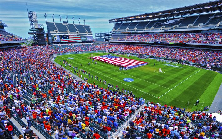 Download wallpapers Gillette Stadium, 4k, HDR, NFL, New England Patriots, USA, America, Foxborough