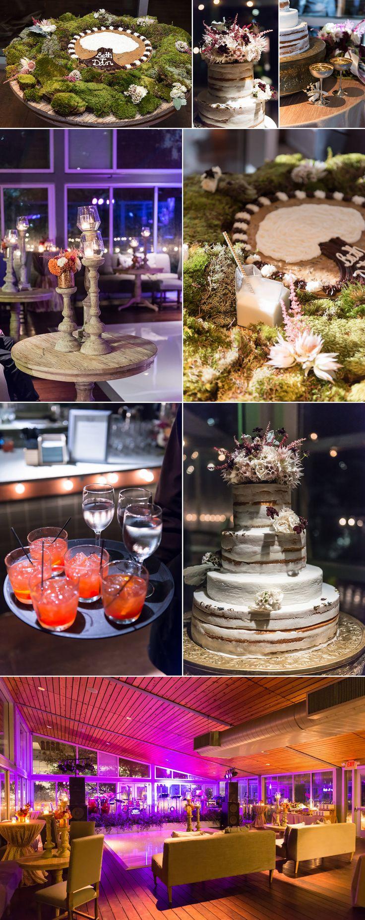 wedding cake, center pieces, cocktails, grooms cake, the grove, Houston Wedding Photographers