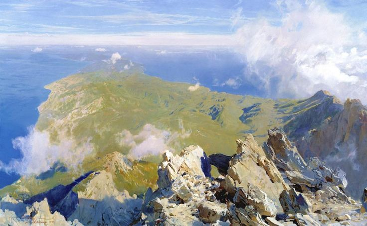 Dmitri Belyukin -- Panorama-of-Athos-from-the-Top-of-the-Holy-Mountain