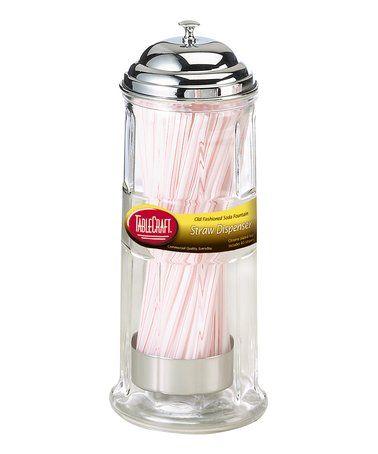 Loving this Glass Straw Dispenser on #zulily! #zulilyfinds