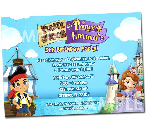 184 best images about Princess Pirate Party – Neverland Party Invitations