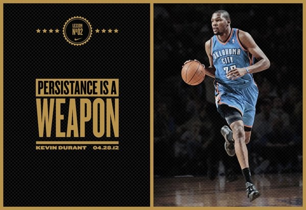 """'Persistance is a Weapon"""" Kevin Durant"""