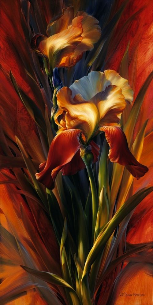 LEGACY OF CAMERENA, BY VIE DUNN HARRON  (....Is this amazing or what??!! It looks like a still life moving towards Expressionism for sure.....love the deep, rich, luscious colors!)