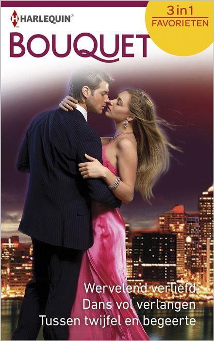 Wervelend verliefd ; Dans vol verlangen ; Tussen twijfel en begeerte (3-in-1)  (1) WERVELEND VERLIEFD - Lee Wilkinson Jenny waant zich de prinses in haar eigen sprookje... Niet alleen heeft haar lievelingsschrijver Michael Denver haar een droombaan aangeboden hij neemt haar ook nog mee naar zijn kasteel op een eiland. Als hij haar dan óók nog kust is haar geluk compleet. Dan ontdekt ze dat ze niet de enige vrouw is in zijn leven... (2) DANS VOL VERLANGEN - Emma Darcy Kan Nicole haar…