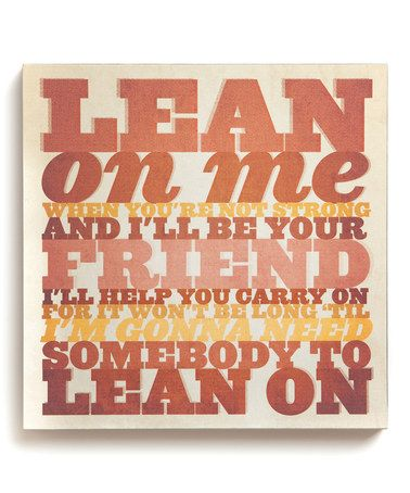 Another great find on #zulily! 'Lean On Me' Wall Art #zulilyfinds