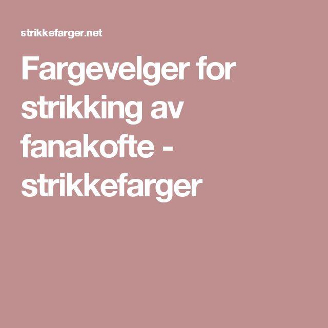 Fargevelger for strikking av fanakofte - strikkefarger Interactive color selection Icelandic sweater