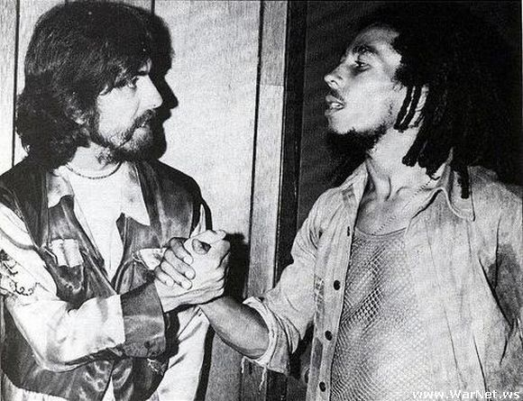 George Harrison and Bob Marley. I've always loved this picture!