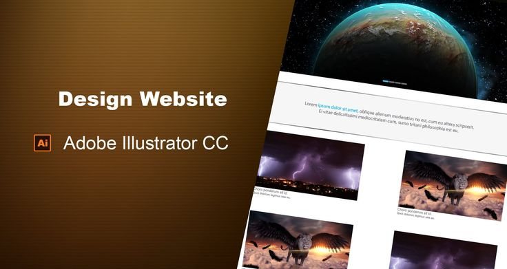 How to design Website in Adobe Illustrator